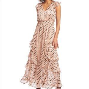 NWT RACHEL Rachel Roy Ruffled V-Neck Maxi Dress 12